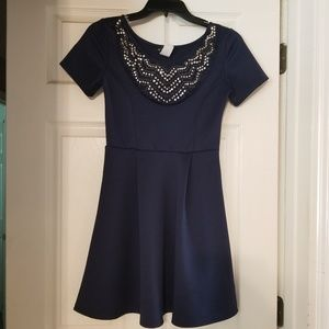 Blue cocktail dress from ModCloth